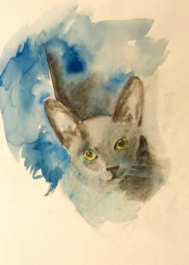 But I tell you, a cat needs a name that's particular... Blueboy Willoughby by Annie Bromham
